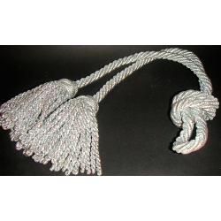 Cordón plateado con 2 borlas 1.6 m