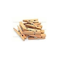 300 Pinzas de madera natural 35mm