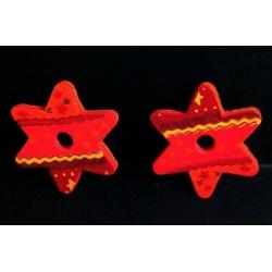 Estrella de madera para colgar c/96uds