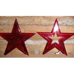Estrella de poliester c/16 uds. 3 colores