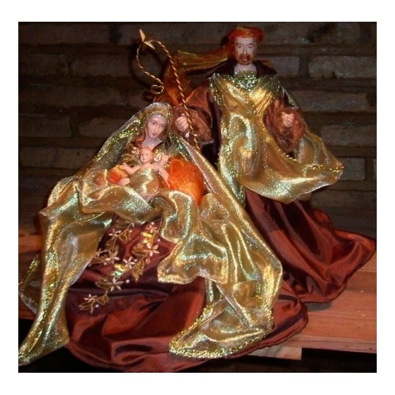 Nacimiento bel n marr n oro y cobre de 1 pieza cms for Nacimiento belen