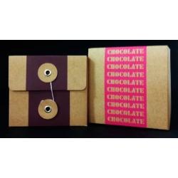 12 Cajas de regalo chocolate 10x10x9 cms. 2 colores.