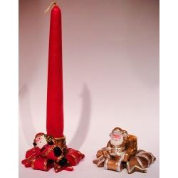 12 Porta velas papa noél. 3 colores surtidos