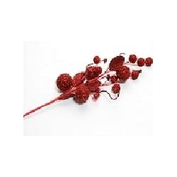 Rama bolas rojas 55 cms c/3uds